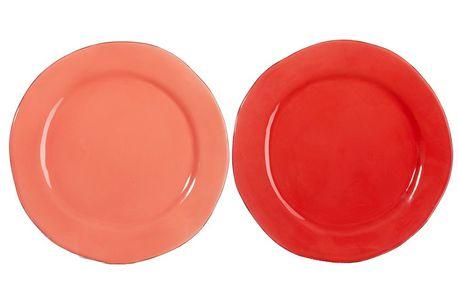 Set talířů Coral 31x31x3 cm, 2 ks