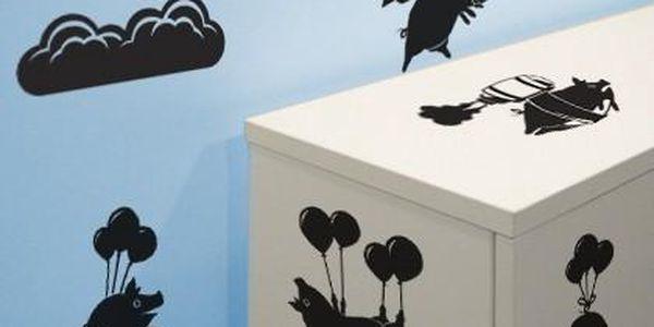 Set samolepek Flying Pig