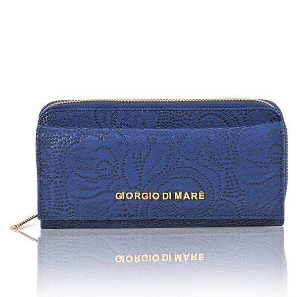 Dámská tmavě modrá peněženka s dekorativním vzorem Giorgio di Mare