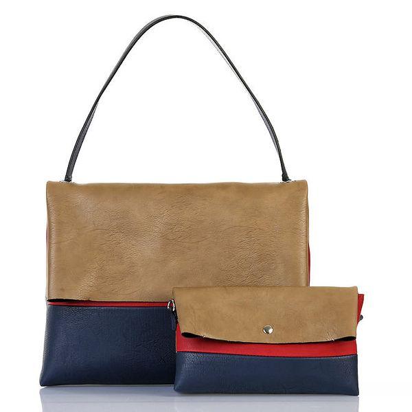 Dámská tříbarevná kabelka s vyjímatelnou taštičkou Giorgio di Mare