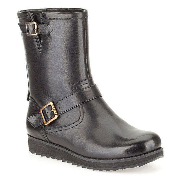 Dámské černé boty s přezkami Clarks
