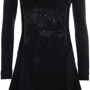 Dámské černé šaty s dlouhým rukávem a korálky Angels Never Die