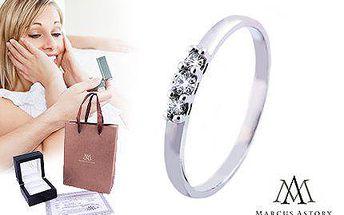 Luxusní 14karátový prsten Marcus Astory s bílým diamantem