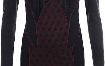 Dámské černé šaty s vínovými prvky Angels Never Die