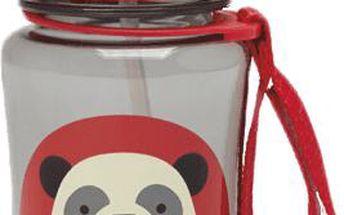 SkipHop Zoo krásná lahvička s brčkem - Panda