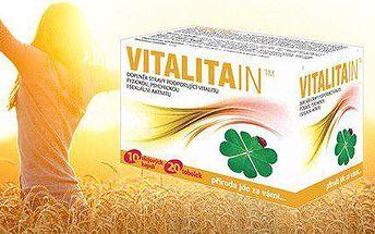 Přírodní doplněk stravy VitalitaIN TM pro energii a vitalitu