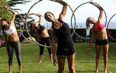 Lekce HOOPINGU v Praze: Cvičení s obručí