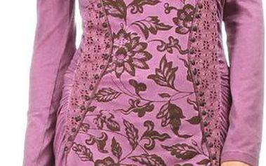 Dámské fialové šaty s květinovým potiskem Angels Never Die