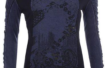 Dámské tmavomodré vzorované tričko Angels Never Die