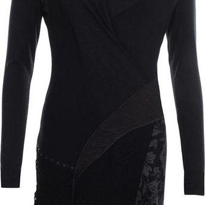 Dámské černé šaty s krajkou a květinovým vzorem Angels Never Die