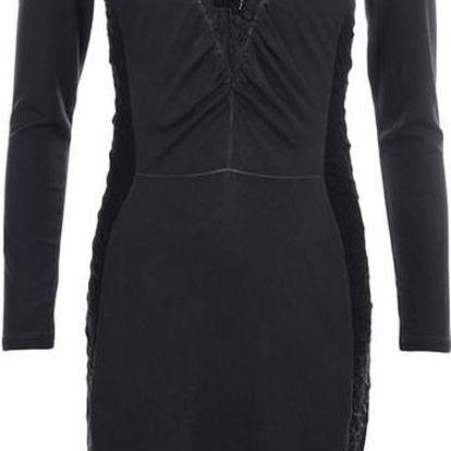 Dámské tmavě šedé šaty s dekorativní korálkovou aplikací Angels Never Die