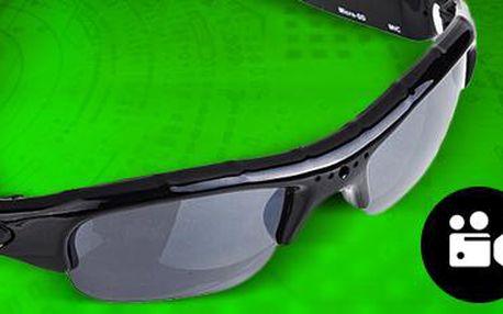 DVR sluneční brýle: s fotoaparátem a kamerou vybavené slotem na SD karty.