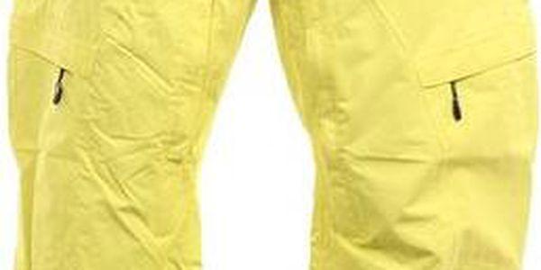 Pánské neonově žluté funkční kalhoty Fundango