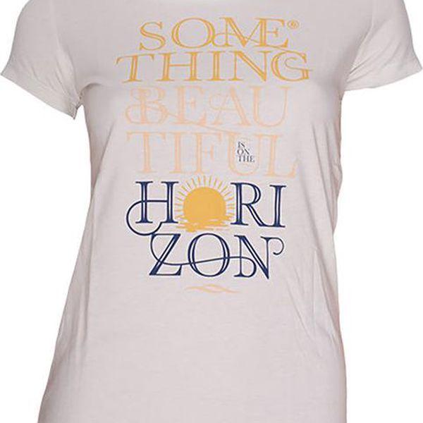 Dámské bílé tričko s barevným nápisem Fundango