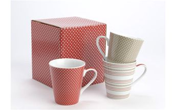 Set hrnků Dotty Dots, 3 ks