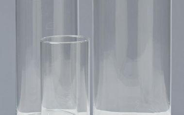 Sada 3 skleněných váz Vase
