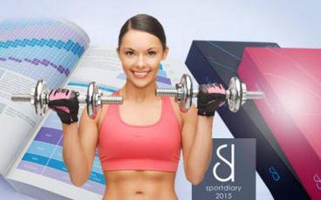 Motivační SPORTOVNÍ DIÁŘ na rok 2015 pro plánování sportovních aktivit! Rady o cvičení, výživě a další!