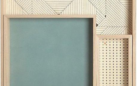 Set dřevěných podnosů Deco, 3 ks