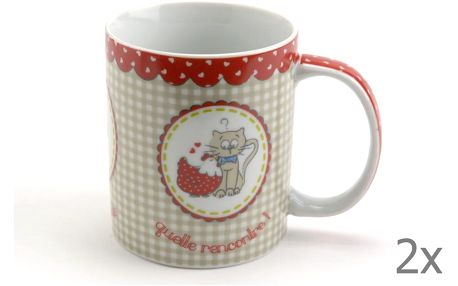 Set hrnků Petit Chat, 2 ks