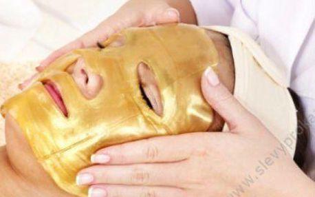 4x pleťová maska s 24karátovým zlatem