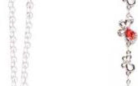 Set náhrdelník a náramek Swarovski Elements Tear Coral