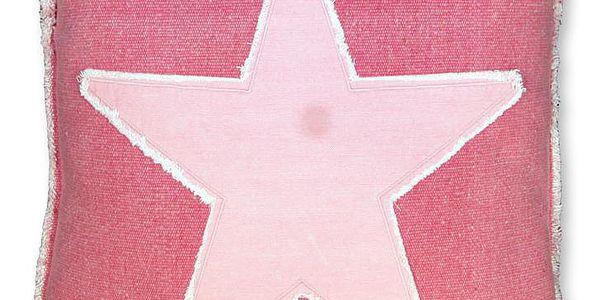 Polštář Star 45x45 cm, fuchsiový