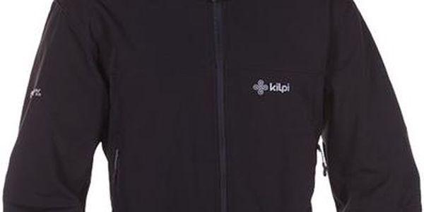 Pánská černá softshellová bunda s kapucí Kilpi