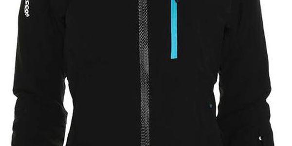Dámská černá lyžařská bunda s tyrkysovými detaily Kilpi