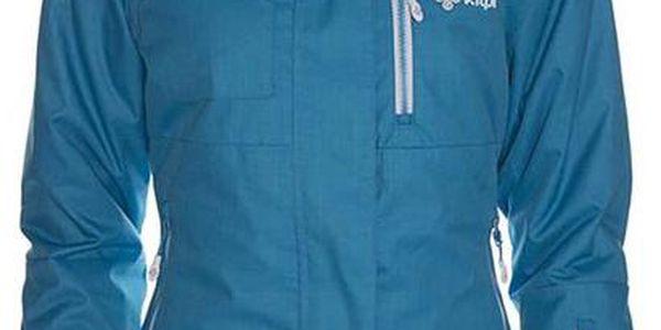 Dámská modrá snowboardová bunda s bílými detaily Kilpi