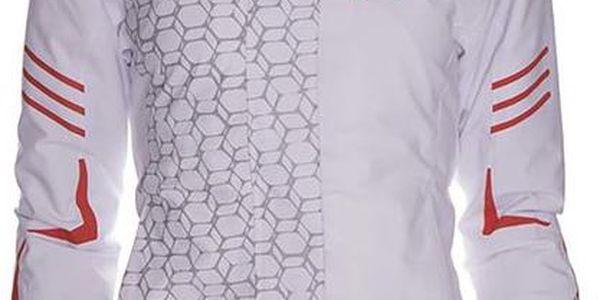 Dámská bílá lyžařská bunda s kontrastními detaily Kilpi