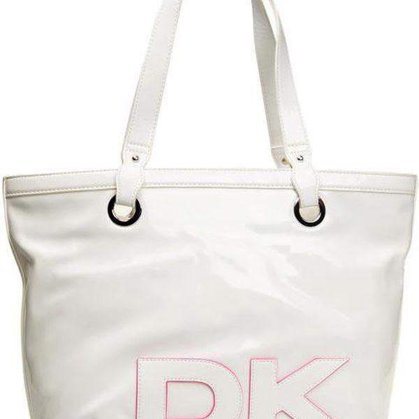 Dámská prostorná bílá kabelka DKNY