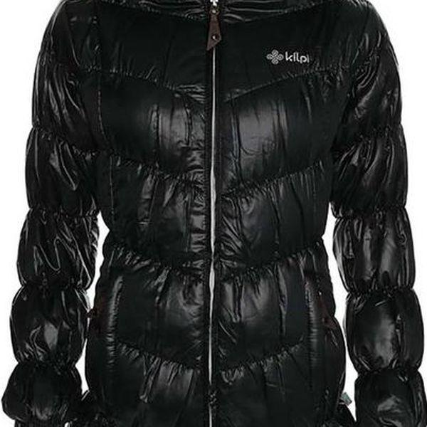 Dámský černý lesklý kabát Kilpi
