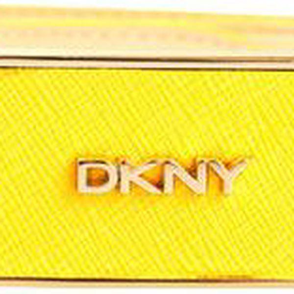 Dámský žlutý pásek s obdélníkovou sponou DKNY