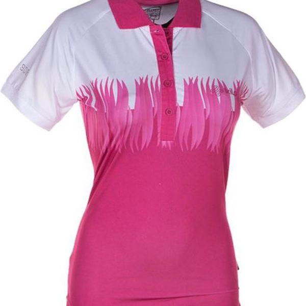 Dámské růžovo-bílé polo tričko Kilpi