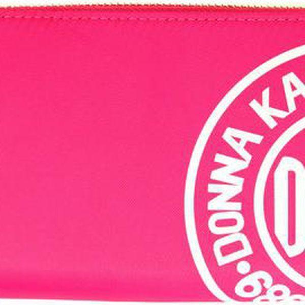 Dámská růžová peněženka s potiskem DKNY