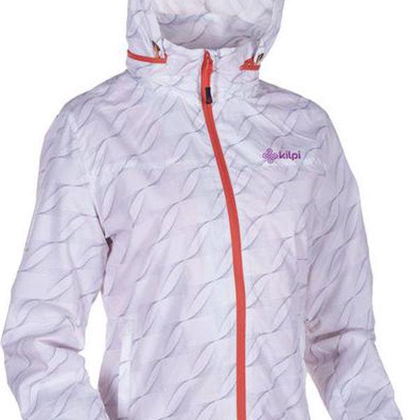 Dámská bílá vzorovaná bunda s kapucí Kilpi