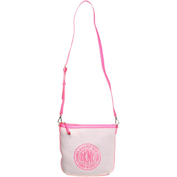 Dámská šedá crossbody taška s růžovými detaily DKNY
