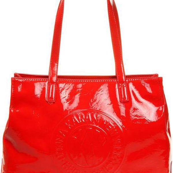 Dámská červená kabelka DKNY - lesklá