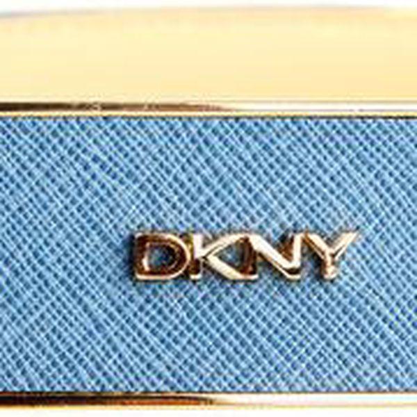 Dámský světle modrý pásek s obdélníkovou sponou DKNY