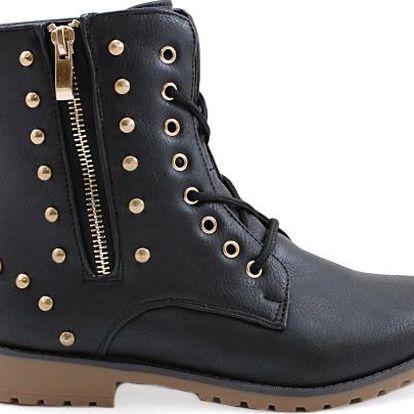 Krásně zdobené nízké zimní boty E505B-1B