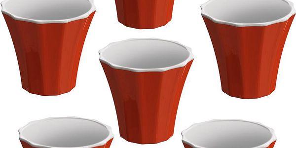 Sada 6 šálků na kávu Colour, červená