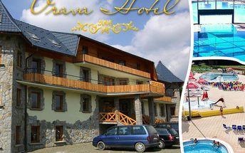 Slovensko - Pobyt pro 2 osoby na 3 nebo 4 dny s polopenzí a dítětem do 12 let v krásném Hotelu Orava***! Platnost až do června!Odpočiňte si a dejte si kávu s koláčkem! Pizzerie,sleva na masáže a Thermal Aquapark.