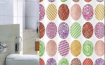 Euromat barevný sprchový závěs Pesaro, 180 x 200 cm
