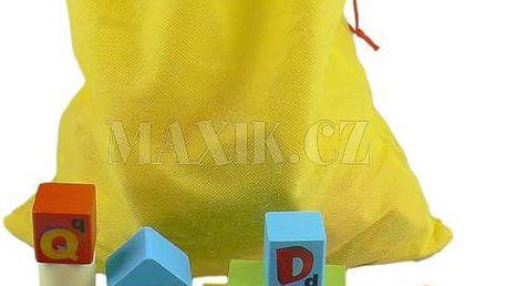 KidsHome dřevěné kostky v sáčku 80 ks
