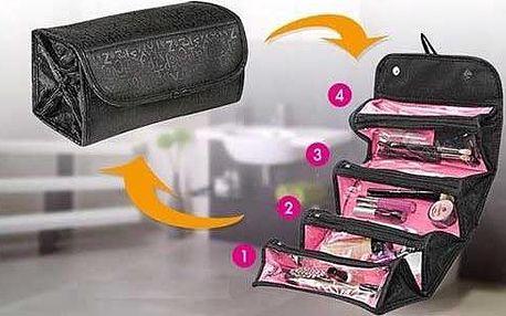 Kosmetický organizér Roll'n'Go s elegantním potiskem pro Vaši kosmetiku. Poštovné je v ceně!