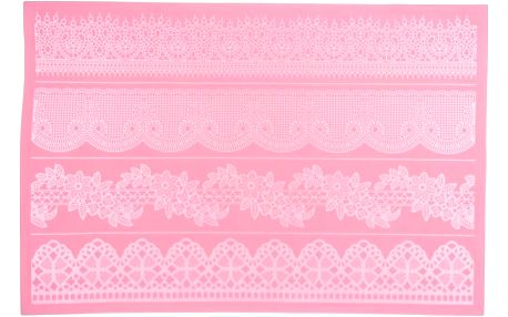 Silikonová zdobící podložka Large Lace Mould, 40x27 cm