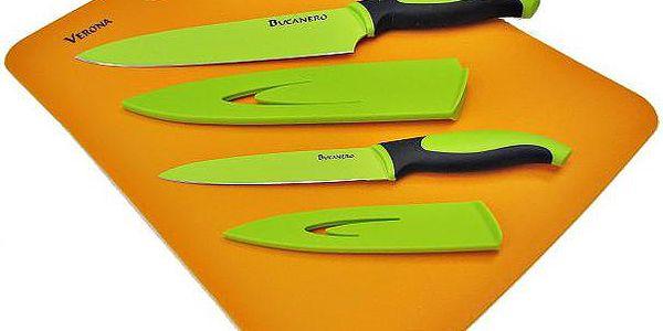 Souprava do kuchyně - 2 teflonové nože + prkénko (kopie)