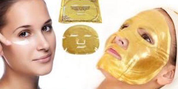 Pleťová maska s 24-karátovým zlatem - hydratuje a povzbuzuje tvorbu nového kolagenu!