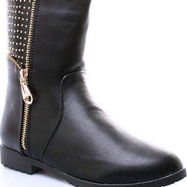 Zajímavé dámské kotníkové boty se zipem