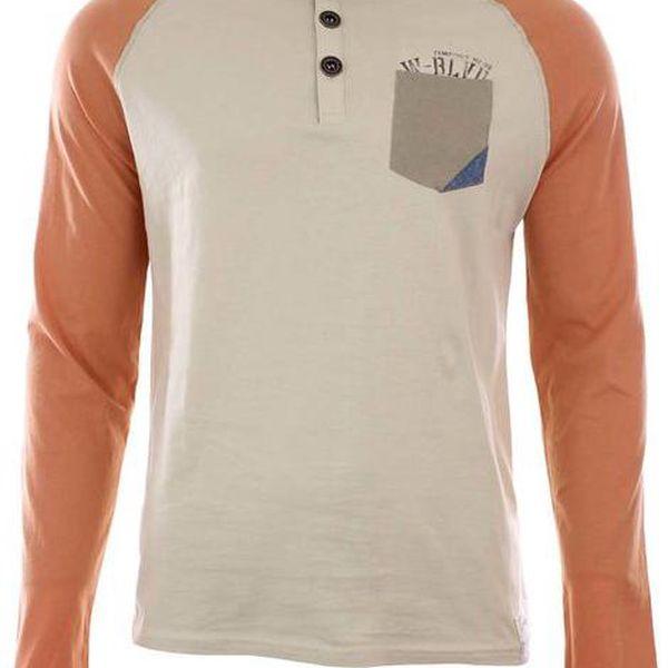Pánské tričko s dlouhými oranžovými rukávy Timeout